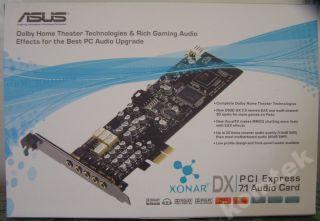 Karta muzyczna 7+1 ASUS XONAR DX 7.1 Dolby audio
