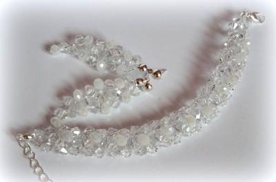 BIŻUTERIA ślub wesele kryształki jak nowa