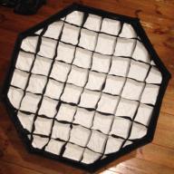 Softbox oktagonalny z siatką grid 95 cm bowens