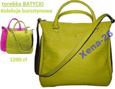 b1d35e27ad79f BATYCKI torba   torebka limonka AVON TO-850 skóra - 5360362398 ...