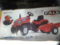 traktorek na pedały z przyczepką