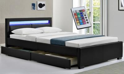 łóżko 811 Pojemniki Na Pościel 180x200 Z Materacem