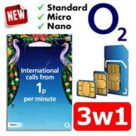 OKAZJA! Starter Anglia Karta SIM O2 UK + 2 GRATIS!