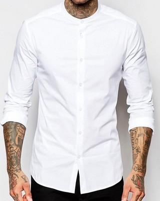 koszula męska exAsos stójka biała slim M