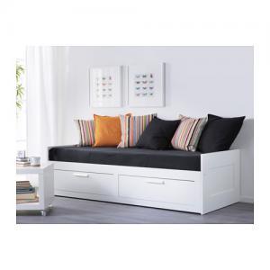 Ikea Brimnes Rama Leżanki Z Dwoma Szufladami łóżko