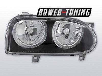 LAMPY PRZOD VW GOLF 3 III RINGI BLACK FK DEPO