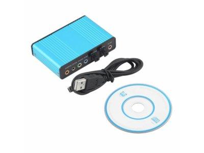 Zewnętrzna karta dźwiękowa 5.1 USB C-Media CM6206