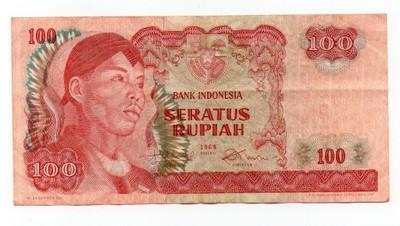 INDONESIA   100  rupiach    1968     B6