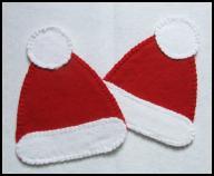 świąteczna czapka ŚW. MIKOŁAJA podkładka z FILCU