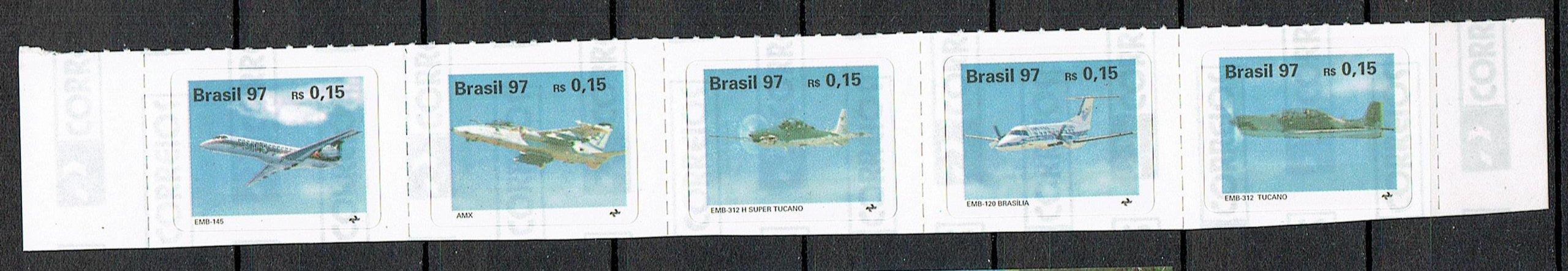 1310 ** czyste Brazylia 2740/44 samoloty