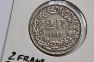 2 FRANK 1912 SZWAJCARIA SREBRO  - NUM7623