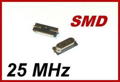 25MHz kwarc SMD niski 25.000MHz [2szt] #A355