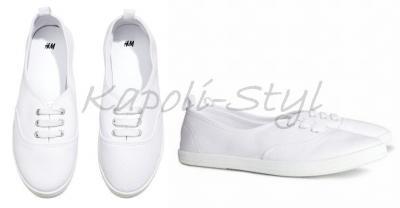 H&M Nowe TENISÓWKI Trampki Sneakers Białe