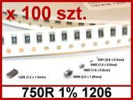 750R 1% SMD _ 1206 _ Rezystor [ 100 sztuk ] #D213
