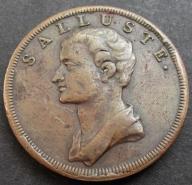 Stary Medal Salluste seria rzymska XIX w. (1087)