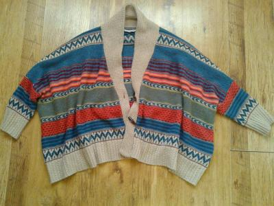 UNIKAT! NEW LOOK Sweter Kardigan etno boho aztec