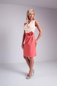 b9489aa251 Elegancka Sukienka Z Różą Na Wesele Komunie  46 - 6491222757 ...