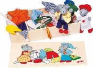 Ubierz myszki,  myszki z ubrankami w skrzynce