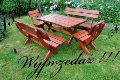 Meble Ogrodowe Z Drewna Okazja 15 Wyprzedaz 5911902496