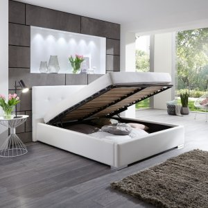 łóżko Do Sypialni 160x200 Cm Stelaż Skrzynia 6311840766