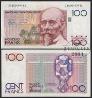 MAX - BELGIA 100 Franków (1978-81) # RZADKI # VF+