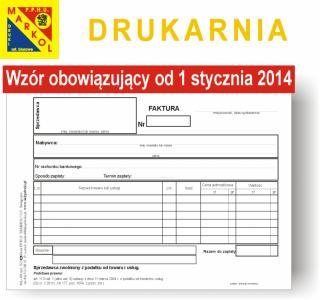Faktura Dla Zwolnionych Z Vat A5 Wzór 2014 5087922074