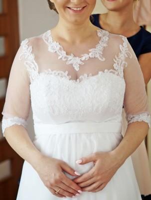 Suknia ślubna 4042 Rękaw 34 Ciążowa 6897386138 Oficjalne