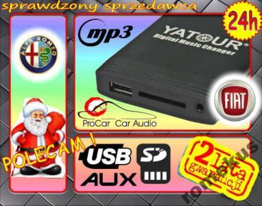 Zmieniarka USB SD mp3 FIAT BRAVO PUNTO STILO CROMA