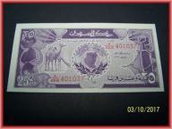 SUDAN * 25 PIASTRÓW * 1987 * UNC * OKAZJA *