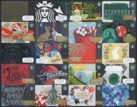USA # GIFT CARDS # STARBUCKS 20 szt # ZESTAW 3