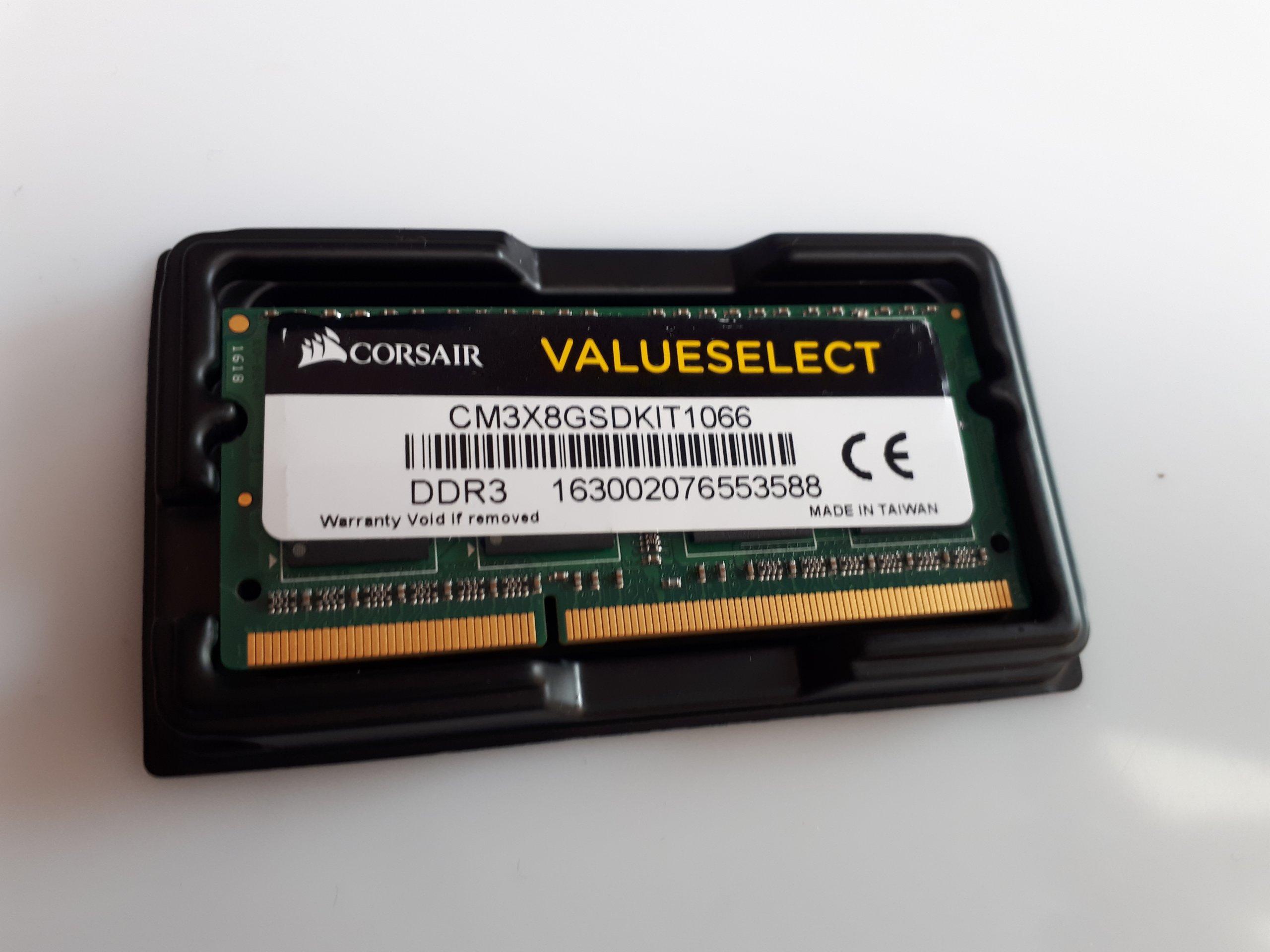 C2 CORSAIR DDR3 4GB 1066MHz CL7 1.5V VELUESELECT