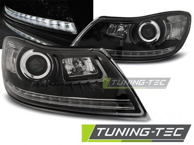 LAMPY SKODA OCTAVIA II 09 12 DAYLIGHT BLACK LED