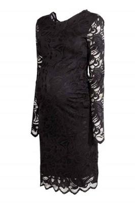 6aa96c1019 H M MAMA sukienka ciążowa koronkowa czarna 36 - 6824385547 ...