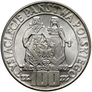 1655. 100 zł 1966 Mieszko i Dąbrówka, st.1/1-