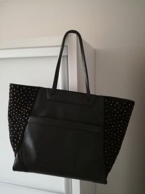 d3673319e7a2d Torebka zara shopper bag czarna ćwieki - 6741680875 - oficjalne ...