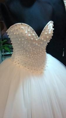 Suknia ślubna Księżniczka Perły Perłowa 6635695903 Oficjalne