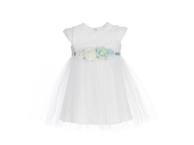 ac58630798 BIAŁA sukienka do chrztu wizytowa wesele Zosia 110 - 6857726060 ...