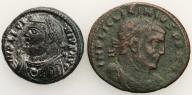 Rzym Licinius IV w. n.e. follisy lot 2 szt. st. 3