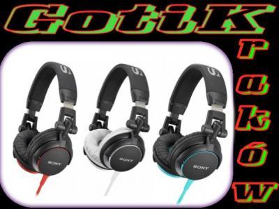 Słuchawki SONY MDR-V55 kolory DJ style bass KrK