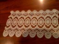 Gipiura bawełna- biała 62 cm szeroka , dł 36 cm