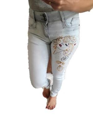 DRAKA  Spodnie z haftem Lady (Rozmiar: M-38)