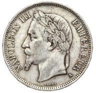 Francja - moneta - 5 Franków 1869 A - SREBRO - 2