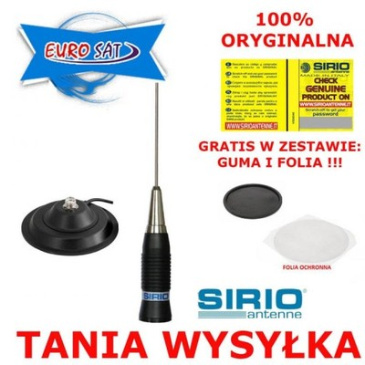 ANTENA CB SIRIO AS-100 ORYG + MAG 145mm +4dBi 300W