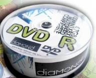 DVD+R DIAMOND 4,7 GB Koperta 50sztuk z fabryki MCC