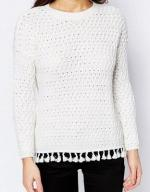 A12034: Sweter New Look casual frędzle UK8