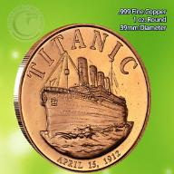 TITANIC - 1 oz .999 Copper Round
