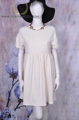 fa6fb48af2 BOOHOO rozkloszowana sukienka wesele r. 36 S biała - 5683055956 ...