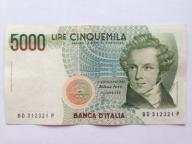 Włochy 5000 Lirów z 1985 roku stan  1