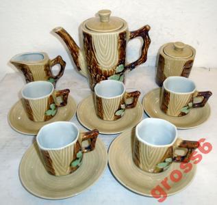 Serwis Do Kawy Herbaty Porcelana Koreańska Dprk 5587690110 Oficjalne Archiwum Allegro
