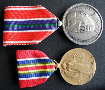 2 medale wojskowe USA